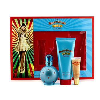 Britney Spears Circus Fantasy Набор: Парфюмированная Вода Спрей 50мл/1.7унц + Суфле для Тела 100мл/3.3унц + Блеск для Губ 8мл/0.27унц 3pcs
