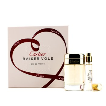 Cartier Baiser Vole Coffret: EDP Spray 50ml/1.6oz + EDP Spray 9ml/0.3oz 2pcs