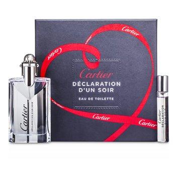 Cartier Declaration d'un Soir Coffret: EDT Spray 50ml/1.6oz + EDT Spray 9ml/0.3oz 2pcs