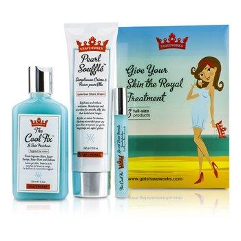 Anthony Shaveworks Skin Royalty Signature Набор: Крем для Бритья 150г + Гель Лосьон 156мл + Роликовое Средство 10мл 3pcs