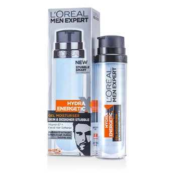 Men Expert Hydra Energetic Skin & Designer Stubble Gel Moisturiser (Pump) 78201733 (50ml/1.7oz)