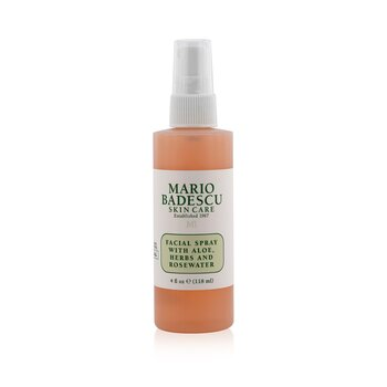 Facial Spray With Aloe, Herbs & Rosewater - For All Skin Types (118ml/4oz)
