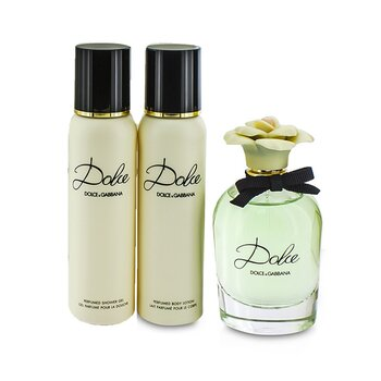 Dolce Coffret: Eau De Parfum Spray 75ml/2.5oz + Body Lotion 100ml/3.3oz + Shower Gel 100ml/3.3oz (3pcs)