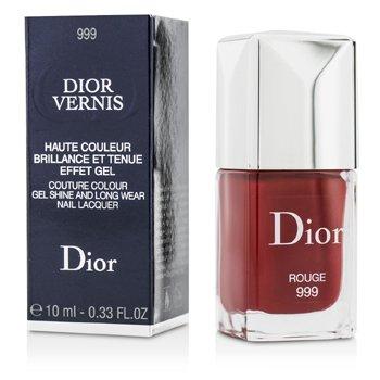 Christian Dior Dior Vernis Couture Colour Сияющий и Стойкий Лак для Ногтей - # 999 Rouge 10ml/0.33oz