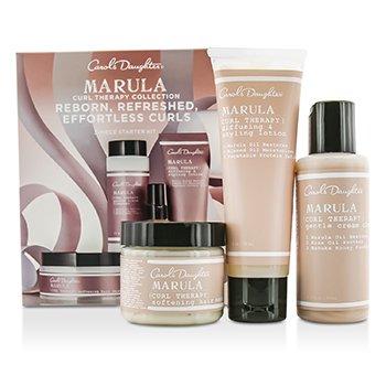 Carols Daughter Marula Curl Therapy Collection Базовый Набор из 3 Средств: Очищающее Средство 60мл + Лосьон для Укладки 60мл + Маска для Волос 60мл 3pcs