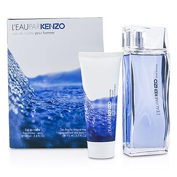 LEau Par Kenzo Набор: Туалетная Вода Спрей 100мл/3.4унц + Шампунь для Волос и Тела 75мл/2.5унц 2pcs