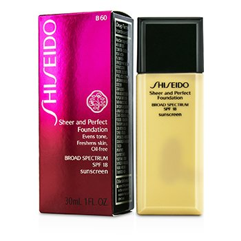 Shiseido Sheer & Perfect Foundation SPF 18 - # B60 Natural Deep Beige  30ml/1oz