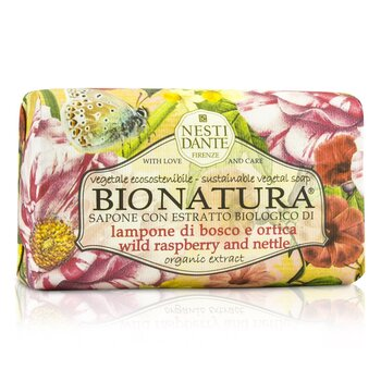 Bio Natura Sustainable Vegetal Soap - Wild Raspberry & Nettle (250g/8.8oz)