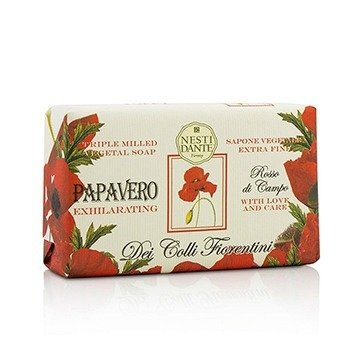 Dei Colli Fiorentini Triple Milled Vegetal Soap - Poppy (250g/8.8oz)