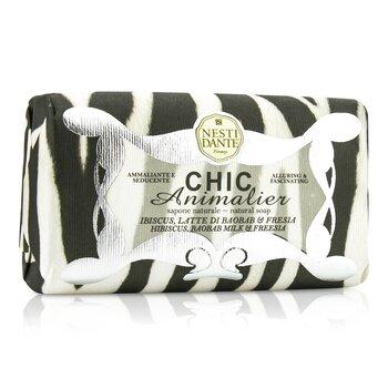Chic Animalier Natural Soap - Hibiscus, Baobab Milk & Freesia (250g/8.8oz)