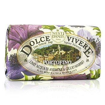 Nesti Dante Dolce Vivere Натуральное Мыло - Portofino - Лен, Розовая Вода и Морская Лилия 250g/8.8oz