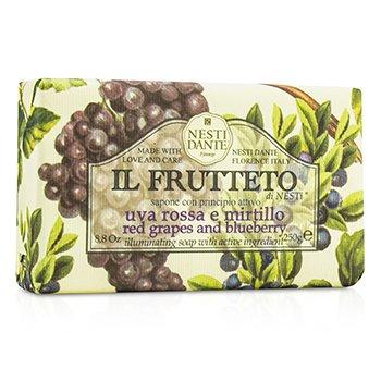 Il Frutteto Illuminating Soap - Red Grapes & Blueberry (250g/8.8oz)