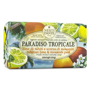 Paradiso Tropicale Triple Milled Natural Soap - Tahitian Lime & Mosambi Peel (250g/8.8oz)