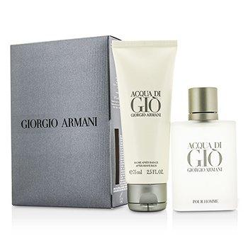 Giorgio Armani Acqua Di Gio Набор: Туалетная Вода Спрей 50мл/1.7унц + Бальзам после Бритья 75мл/2.5унц 2pcs