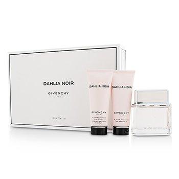 Givenchy Dahlia Noir Набор: Туалетная Вода Спрей 75мл/2.5унц + Молочко для Тела 75мл/2.5унц + Гель для Ванн 75мл/2.5унц 3pcs