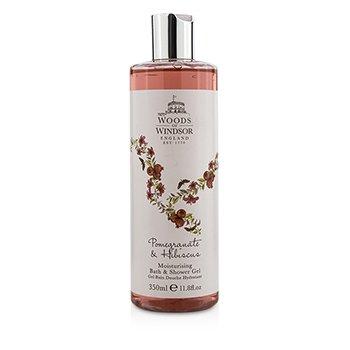 Woods Of Windsor Pomegranate  Hibiscus Увлажняющий Гель для Ванн и Душа 350ml/11.8oz