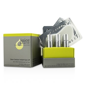 Juice Beauty Stem Cellular Мгновенный Лифтинг для Глаз: Algae Маска для Глаз + Активатор (Коробка Слегка Повреждена) 12pcs