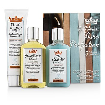 Shaveworks Bare Perfection Kit: Shave Cream 150g + Targeted Gel Lotion 156ml + Body Oil 156ml (3pcs)