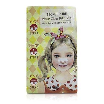 The Saem Secret Pure Набор для Очищения Кожи Носа 1.2.3 10pcs