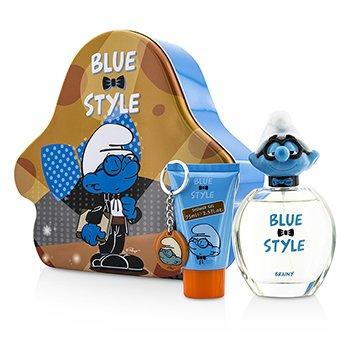 The Smurfs Brainy Набор: Туалетная Вода Спрей 100мл/3.4унц + Гель для Душа 75мл/2.5унц + Брелок 3pcs