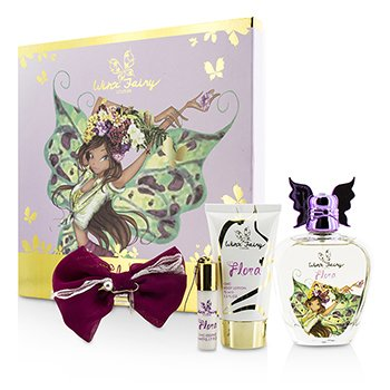 Winx Fairy Couture Stella Chic Essence Набор: Туалетная Вода Спрей 100мл/3.4унц + Лосьон для Тела 75мл/2.55унц + Роликовый Аромат 5мл/0.17унц + Заколка для Волос 4pcs