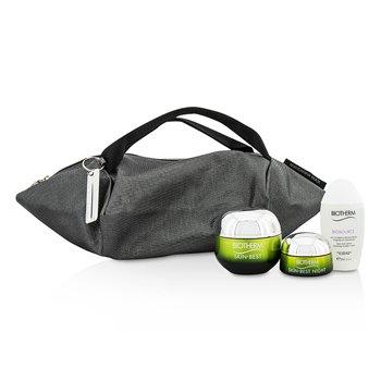 Skin Best X Mandarina Duck Coffret: Cream SPF15 N/C 50ml + Night Cream 15ml + Biosouce Cleansing Water 30ml + Handle Bag (3pcs+1bag)