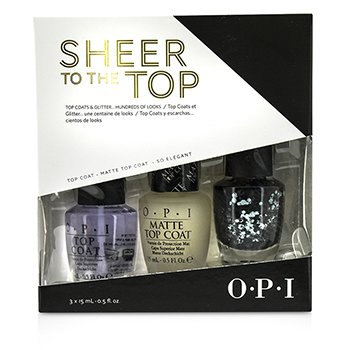 O.P.I Sheer To The Top (Верхнее Покрытие и Блеск Трио) 3x15ml/0.5oz
