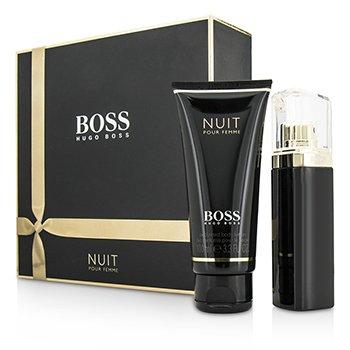 Hugo Boss Boss Nuit Pour Femme Набор: Парфюмированная Вода Спрей 50мл/1.6унц + Лосьон для Тела 100мл/3.3унц 2pcs