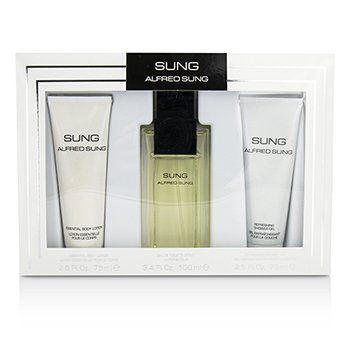 Alfred Sung Sung Coffret: EDT Spray 100ml/3.4oz + Body Lotion 75ml/2.5oz + Shower Gel 75ml/2.5oz 3pcs