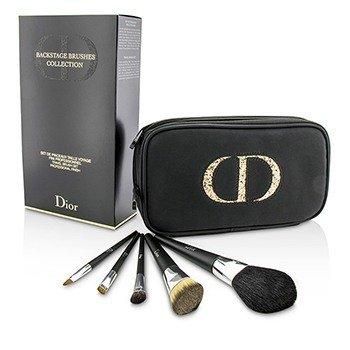 Christian Dior Backstage Brushes Дорожный Набор Профессиональных Кистей (для Пудры, для Жидкой Основы, для Теней, для Подводки, для Губ) 5pcs+1case