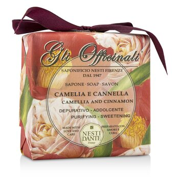 Gli Officinali Soap - Camellia & Cinnamon - Purifying & Sweetening (200g/7oz)