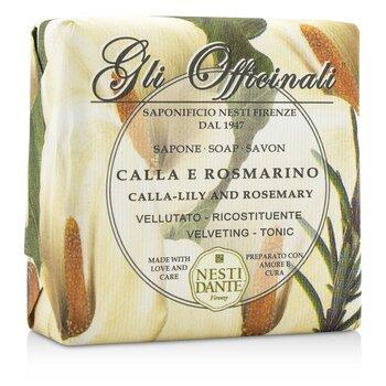 Gli Officinali Soap - Calla-Lily & Rosemary - Velveting & Tonic (200g/7oz)