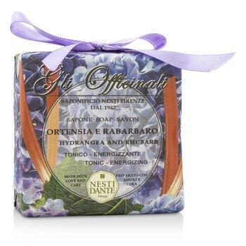 Gli Officinali Soap - Hydrangea & Rhubarb - Tonic & Energizing (200g/7oz)