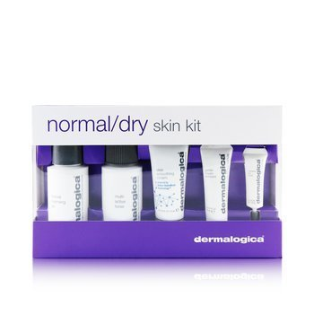 Normal/ Dry Skin Kit: Cleanser + Toner + Smoothing Cream + Exfoliant + Eye Reapir (5pcs)