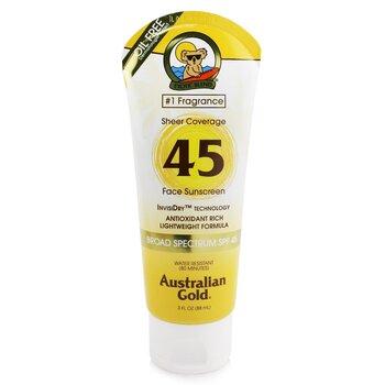 Australian Gold Sheer Coverage Солнцезащитное Средство для Лица SPF 45 88ml/3oz