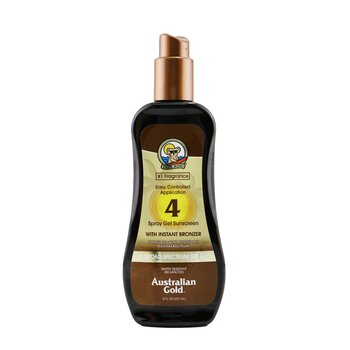 Spray Gel Sunscreen Broad Spectrum SPF 4 with Instant Bronzer (237ml/8oz)