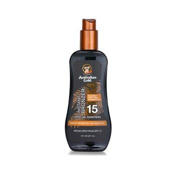 Spray Gel Sunscreen Broad Spectrum SPF 15 with Instant Bronzer (237ml/8oz)