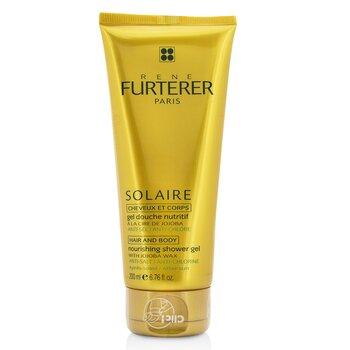 Solaire Nourishing Shower Gel with Jojoba Wax (Hair and Body) (200ml/6.76oz)