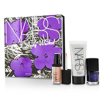 NARS Andy Warhol Walk On The Wild Side Набор (1xМини Хайлайтер, 1xМини Лак для Ногтей, 1xМини Блеск для Губ) 3pcs