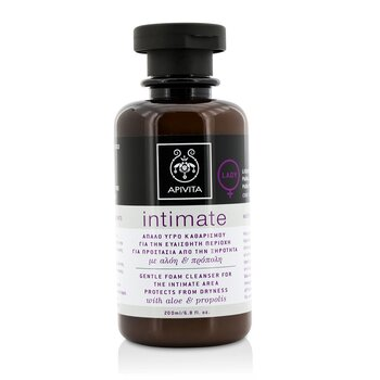 Intimate Gentle Foam Cleanser For The Intimate Area Protects From Dryness with Aloe & Propolis (200ml/6.8oz)