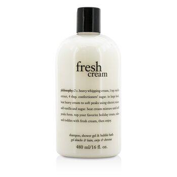 Fresh Cream Shampoo, Shower Gel & Bubble Bath (480ml/16oz)