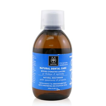 Total Natural Mouthwash With Spearmint & Propolis (250ml/8.5oz)