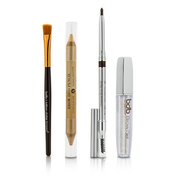 Best Sellers Kit: 1x Universal Brow Pencil 0.27g/0.009oz, 1x Brow Duo Pencil 2.98g/0.1oz, 1x Smudge Brush, 1x Brow Gel 3ml/0.1oz (4pcs)