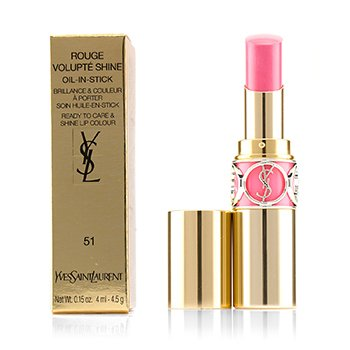 Yves Saint Laurent Rouge Volupte Shine Oil Губная Помада - # 51 Rose Saharienne 4.5g/0.15oz