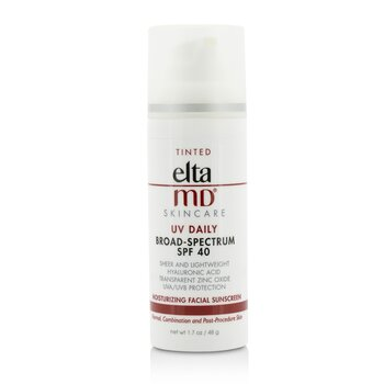 UV Daily Moisturizing Facial Sunscreen SPF 40 - For Normal, Combination & Post-Procedure Skin - Tinted (48g/1.7oz)