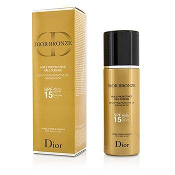 Christian Dior Dior Bronze Совершенствующее Защитное Масло с Нежным Сиянием SPF 15 - для Лица, Тела и Волос 125ml/4.2oz
