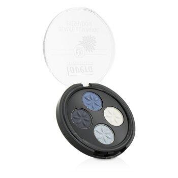 Lavera Beautiful Минеральные Тени для Век 4 Оттенка - # 07 Blue Platinum 4x0.8g/0.026oz
