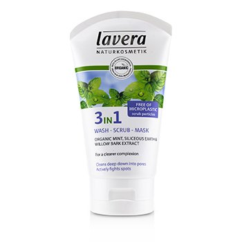 Lavera Organic Mint 3-в-1 Средство для Умывания, Скраб, Маска 125ml/4.1oz