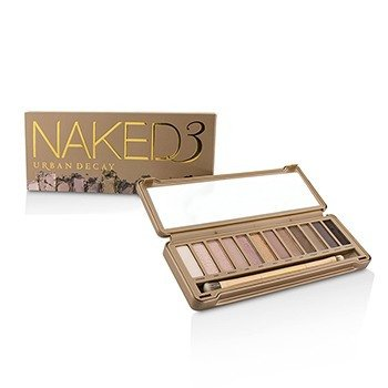 Naked 3 Eyeshadow Palette: 12x Eyeshadow, 1x Doubled Ended Shadow/Blending Brush (6pcs)
