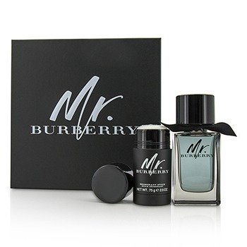 Burberry Mr. Burberry Coffret: EDT Spray 100ml/3.3oz + Deodorant Stick 75g/2.5oz 2pcs